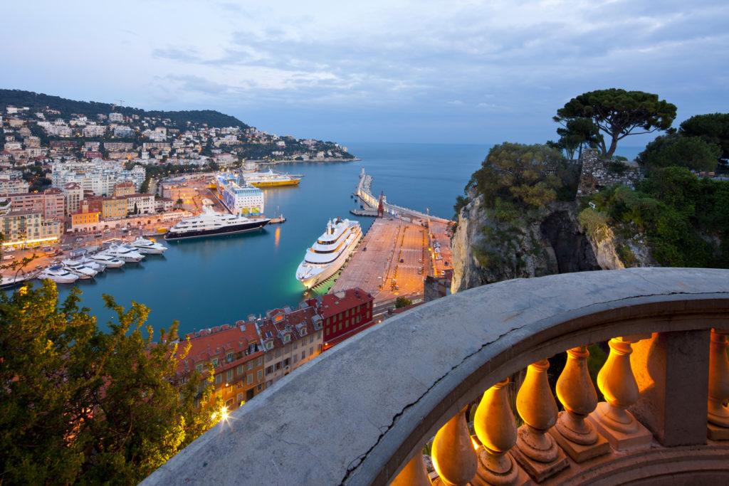 Vue depuis les hauteurs de Nice